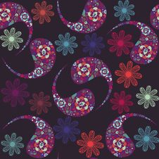 Floral Seamless Pattern And Seamless Pattern In Sw Stock Images