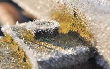 Free Frost On Piece Of Metal Royalty Free Stock Photos - 35969728