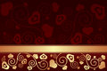 Free Valentine&x27;s Day Background With Hearts Royalty Free Stock Photo - 35971185