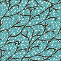 Free Vector Seamless Pattern With Winter Trees Royalty Free Stock Photo - 35972845