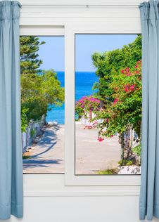 View From The Window On The Royalty Free Stock Images