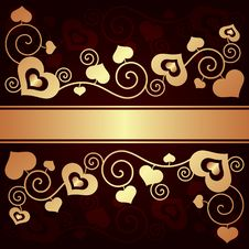 Free Valentine S Day Background With Hearts Royalty Free Stock Photos - 35971138