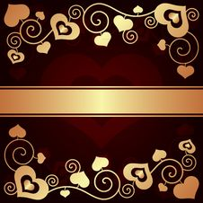 Free Valentine S Day Background With Hearts Stock Photo - 35971140