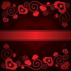 Free Valentine S Day Background With Hearts Stock Photography - 35971142