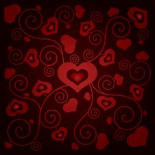 Free Valentine S Day Background With Hearts Stock Photo - 35971150