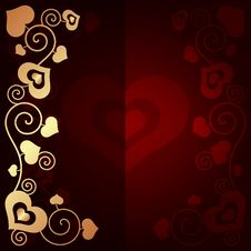 Free Valentine S Day Background With Hearts Royalty Free Stock Photography - 35971157