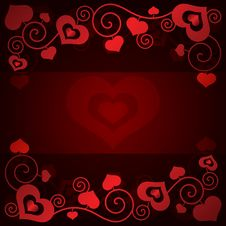 Free Valentine S Day Background With Hearts Stock Image - 35971171