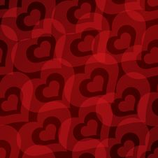 Free Valentine S Day Background With Hearts Seamless Pattern Stock Images - 35971174