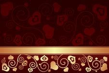 Free Valentine S Day Background With Hearts Royalty Free Stock Photo - 35971185