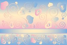 Free Valentine S Day Background With Hearts Stock Photos - 35971193
