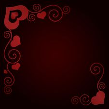Valentine S Day Background With Hearts Stock Image