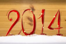Free New Year 2014. Stock Image - 35971481
