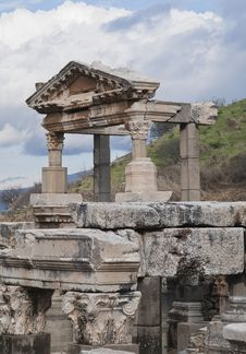 Ancient Greek Town Of Ephesus In Turkey Royalty Free Stock Image