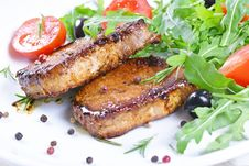 Free Grilled Steaks And Vegetables. Royalty Free Stock Photo - 35971735