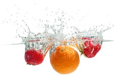 Free Splashing Fruits Royalty Free Stock Image - 35972456