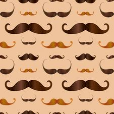 Free Hipster Realistic Mustache Seamless Pattern Royalty Free Stock Photo - 35973575