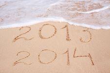 Free New Year 2014. Stock Photo - 35975040