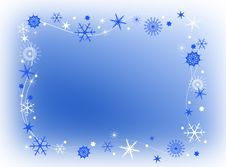 Free Snowflakes Frame Stock Images - 35975674