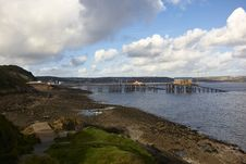 Free Unusual View Of Mumbles Pier Stock Photo - 35979570