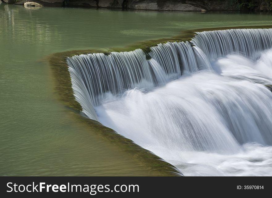 Beautiful waterfall in Taiwan