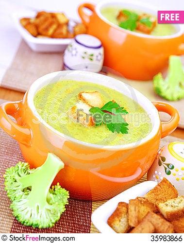 Free Tasty Cream Soup Royalty Free Stock Image - 35983866