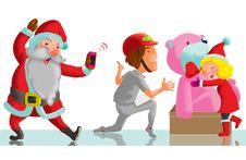 Free Gifts From Santa Royalty Free Stock Photos - 35982818
