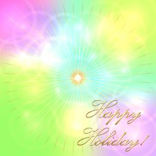 Free Vector Multicolor Pastel Holiday Background Royalty Free Stock Photo - 35982865