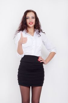 Free Woman Showing Thumb Up Royalty Free Stock Photography - 35983357