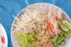 Rice Vermicelli Thai Foods Royalty Free Stock Photos