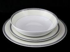 Free Porcelain Dinnerware Set Royalty Free Stock Photos - 35985508