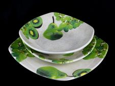 Free Hand Decorated Porcelain Plates Royalty Free Stock Photos - 35985538