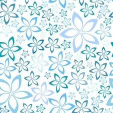 Free Simple Blue Floral Seamless Pattern Stock Images - 35986794