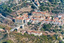 Free Picturesque Aerial View At The Village In Catalonia. Stock Photography - 35987942