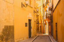 Free Picturesque View Of Old Houses In Tarragona, Catalonia Royalty Free Stock Image - 35989186