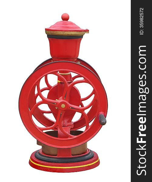 Vintage coffee grinder isolated
