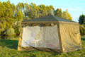Free A Big Tourist Tent On The Bank Of The River. Stock Photography - 35996302