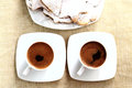 Free Two Cups Of Coffe With Cookies Royalty Free Stock Photo - 35996975