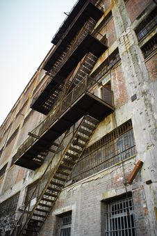 Free Fire Escape Stairs Stock Photo - 35991070