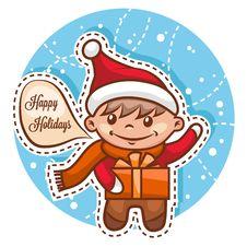 Cute Little Santa Boy Royalty Free Stock Photo