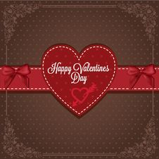 Free Vintage Valentines Card Royalty Free Stock Photography - 35991577