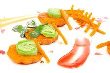 Free Japanese Dessert With Mandarin Stock Photos - 35991903