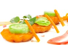 Free Japanese Dessert With Mandarin Royalty Free Stock Images - 35991909