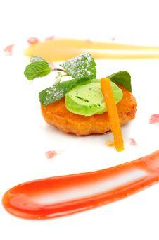 Free Japanese Dessert With Mandarin Stock Photo - 35991910