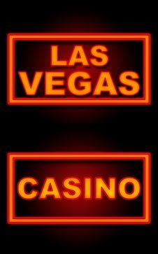 Free Las Vegas Casino Neon Black Background Royalty Free Stock Photos - 35992228