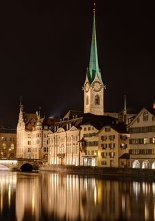 Free Zurich, Lady Minster Royalty Free Stock Image - 35993666