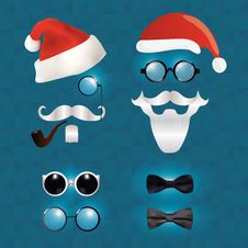 Free Santa Claus Fashion Set Hipster Style Stock Photo - 35994280