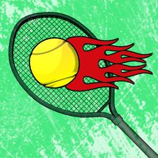 Free Flaming Tennis Ball Royalty Free Stock Images - 35996119