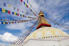 Free Boudhanath Giant Buddhist Stupa In Kathmandu Himalaya Nepal Royalty Free Stock Photo - 35997915