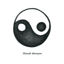 Free Yinyang. Hand Drawn. Vector. Eps8 Stock Photography - 35999082