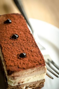 Free Triple Chocolate Mousse Cake Royalty Free Stock Photography - 35999617